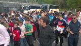 Au centre d'entraînement de la Real Sociedad, à San Sebastien.